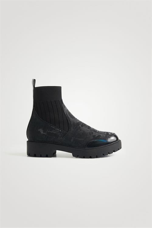 boty Desigual Biker Sock negro