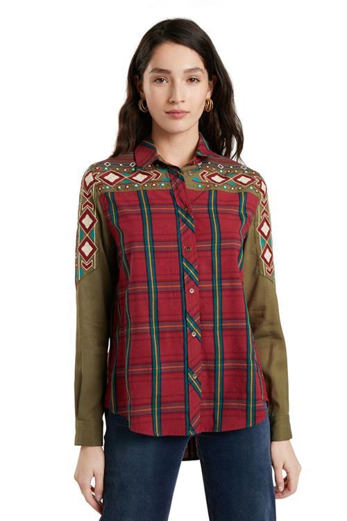 košile Desigual Lottie Dod borgona