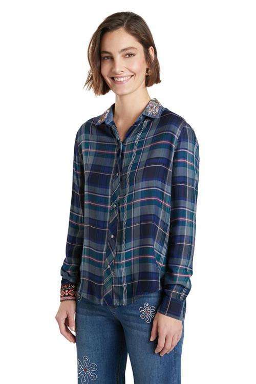 košile Desigual Susan Sontag navy
