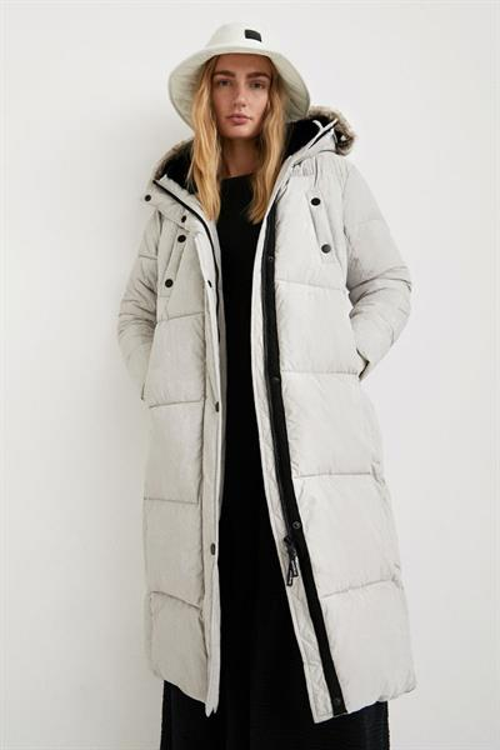 kabát Desigual Antartica gris plata