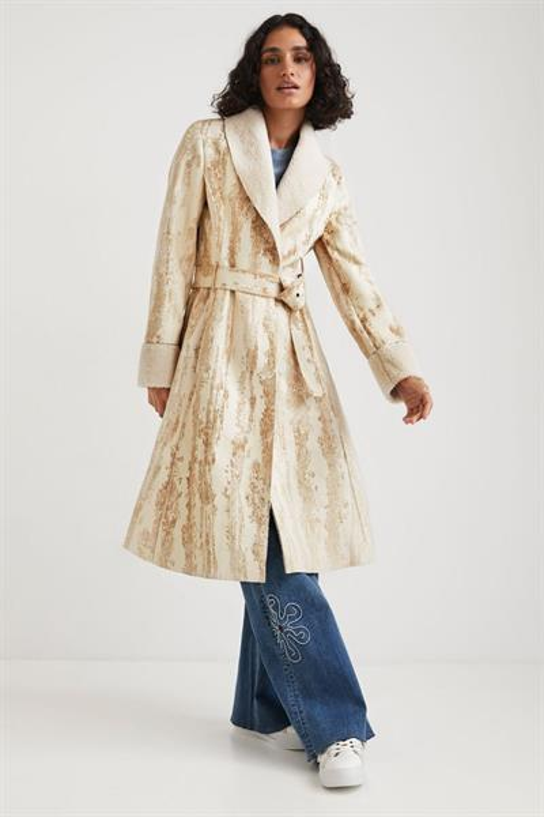 kabát Desigual Marvelous crudo beige