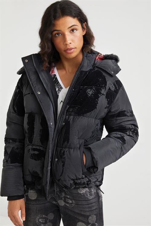 kabát Desigual Mickey negro