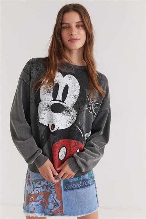 mikina Desigual Mickey gris medio