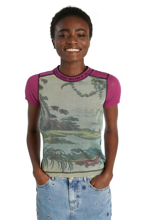 tričko Desigual Marie Stopes crudo