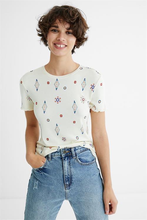 tričko Desigual Giupessa crudo