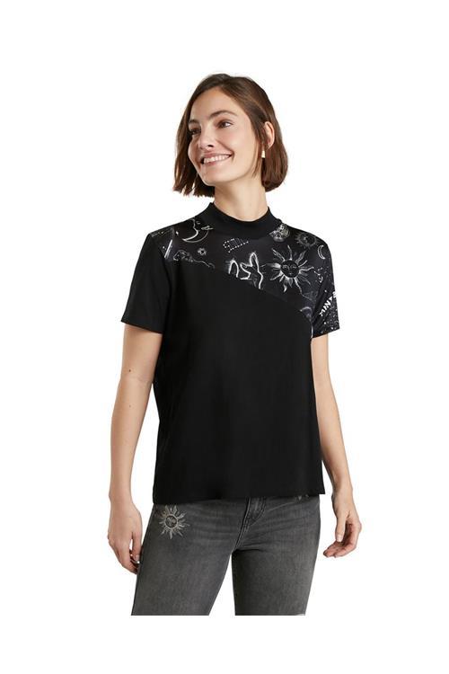 tričko Desigual Grace Hopper negro