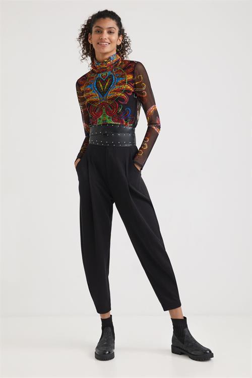 tričko Desigual Varsovia negro