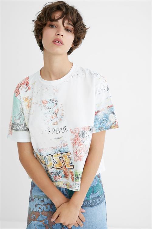tričko Desigual Vintage Mickey crudo