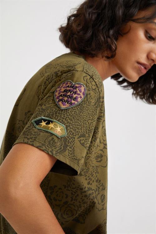 tričko Desigual Ayla caqui