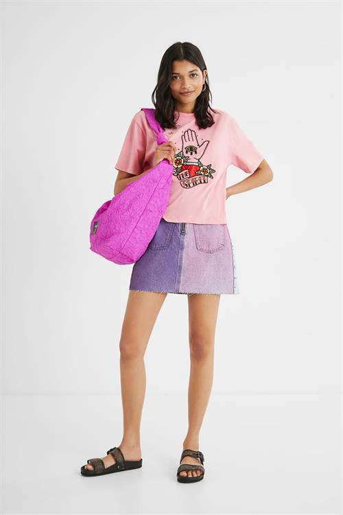 tričko Desigual The Spirit rosa bombon