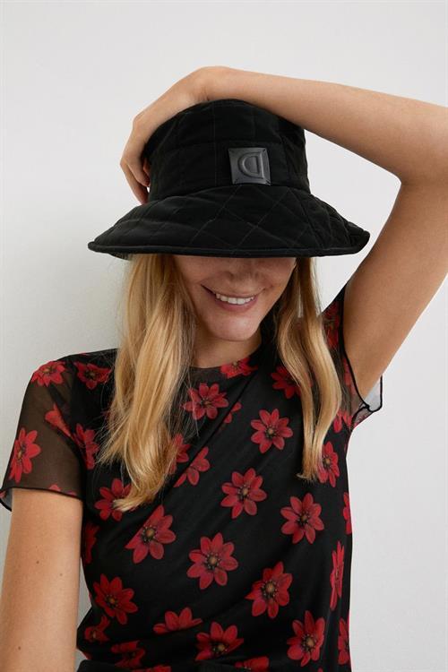 tričko Desigual Florita negro