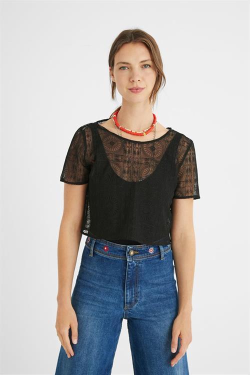 body Desigual Camiseta negro