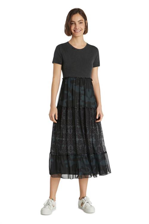 šaty Desigual Aikido gris oscuro