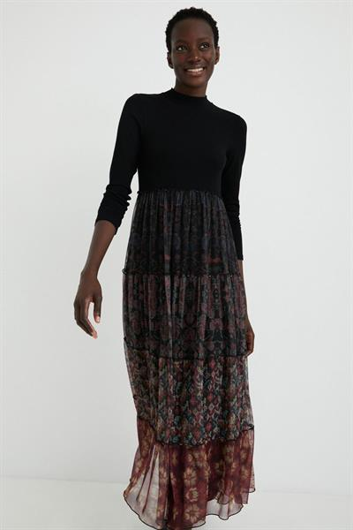 šaty Desigual Cinamon negro