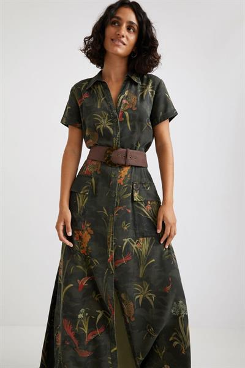šaty Desigual Amsterdam verde oliva