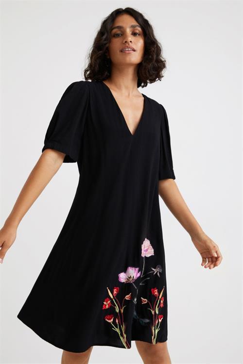 šaty Desigual Buganvilla negro