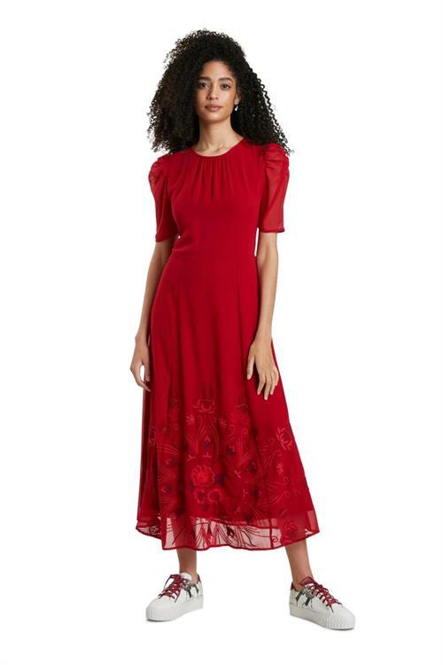 šaty Desigual Yeniséi carmin