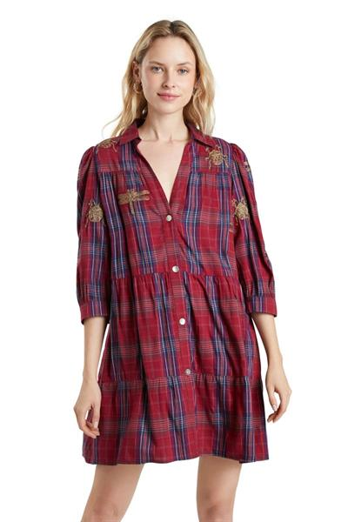 šaty Desigual Dora Maar rojo clavel