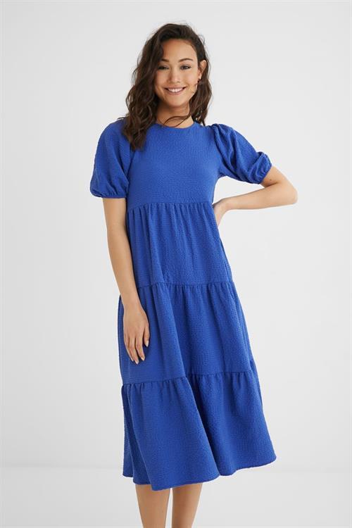 šaty Desigual Helga Suede azul electric